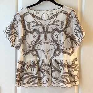 Harlyn cut out embroidered top